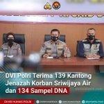 DVI Polri Terima 139 Kantong Jenazah Korban Sriwijaya Air dan 134 Sampel DNA