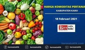 Daftar Harga Komoditas Pertanian Kabupaten Karo, 18 Februari 2021