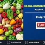 Daftar Harga Komoditas Pertanian Kabupaten Karo, 05 April 2021